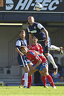 Picture by David Horn/Focus Images Ltd +44 7545 970036.08/09/2012.Ryan Cresswell (r) of Southend United and Sam Wiliams (l) of Daggenham and Redbridge during the npower League 2 match at Roots Hall, Southend.