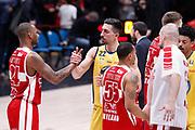 Mazzola Valerio fair play fine partita, EA7 EMPORIO ARMANI OLIMPIA MILANO vs AUXILIUM FIAT TORINO, 25 giornata Campionato Lega Basket Serie A, Milano 08 aprile 2018 Mediolanum Forum FOTO: Bertani/Ciamillo