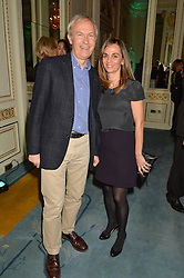 LUKE JOHNSON and his wife LISA at a party to celebrate the publication of The Romanovs 1613-1918 by Simon Sebag-Montefiore held at The Mandarin Oriental, 66 Knightsbridge, London on 2nd February 2016.