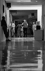 Stock photo of a hospital lobby