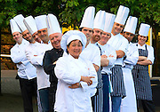 21/08/2012. REPRO FREE. News. Top UK and Irish Chefs Announced for Harvest Festival 2012. Pictured at Waterford where Chefs got together for a photocall for Harvest 2012, pictured center is Emon Pulker from Sabai, with other chefs Arnaud Mary - L'Atmosphere, Nukun Khamhomkum - Sabai, Anthony Edmonde - Dooleys, John Moore - Tower Hotel, Jim flash Gordon - Oskars, JB Du Bois - Athnauem Hotel, Paul Byan - Tracey's, Jiri Kvita - Tracey's, Claudio Cavaliere - Espresso, Shane Curtin - Brunch, Shannon Ni Neill - Bodega Cleaver. Photo; Patrick Browne<br />  <br /> For immediate release<br /> <br /> A host of top Chefs are lined-up to feature at the Waterford Harvest Festivalfrom September 10 to 16.<br />  <br /> Neven Maguire, Kevin Dundon and Darina Allen will all be out in force to showcasetheir culinary skills in addition to BBC's Martin Dorey, the presenter of the hit TV series 'One Man and his Campervan' and author of the Camper Van Cookbook.<br />  <br /> Taking to the streets of Waterford City today (Tuesday, August 21) the city's top restaurant Chefs unveiled the festivals restaurant trail which features, a Curry War, Meet the Chef Cookery Demo's, Bambina Pizzini, an afternoon of Funky Irish Food, a Restaurant Masterclass and more.<br />                            <br /> Chef Kevin Dundon will launch the festivities at the brand new Medieval Museum on Monday, September 10 at 1pm with the Super ValuMobile kitchen for an afternoon of food, fun and freebies! <br />  <br /> Also on September 10 join food critic and wine connoisseur Paolo Tullio and take a journey through Waterford's Wine history and tour the wonderfully atmospheric 13th century Mayors Wine Vault.<br />  <br /> On Tuesday, September 11 join Tower Hotel Executive Head Chef John Moore for a free showcase on how to put together a salsa Verdi, bruschetta and even a quick lesson on cake decorating.<br />  <br /> Throughout the week from Tuesday, September 11 to 14 a daily free 'Meet the Chefs' open-air free cookery demonstration will take place at 1pm in the centre of the city at John Ro