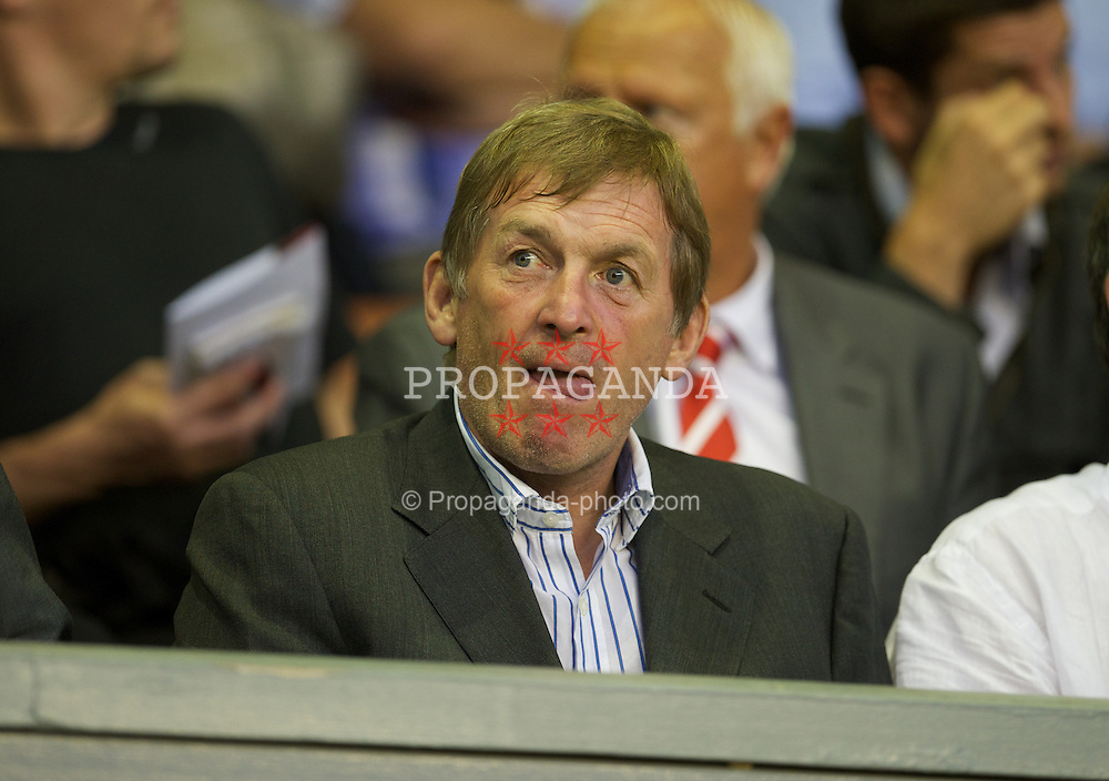 LIVERPOOL, ENGLAND - Thursday, September 29, 2011: Liverpool's manager Kenny Dalglish during the NextGen Series Group 2 match against Molde FK at Anfield. (Pic by David Rawcliffe/Propaganda)