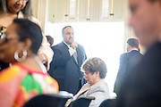 Annapolis, Maryland - May 12, 2015: Luke Clippinger, MD delegate for district 46, is the sponsor of the community solar bill. He and others involved in crafting the bill meet up at the Maryland State House in Annapolis Tuesday May 12, 2015, for the bill's signing. <br /> CREDIT: Matt Roth for Earthjustice