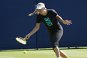 Caroline Wozniaki in Practice at the Nature Valley International Eastbourne 2019, at Devonshire Park, Eastbourne, United Kingdom on 21 June 2019, Picture by Jonathan Dunville