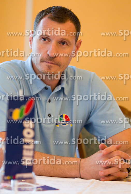 Head coach Rado Trifunovic during press conference of basketball team KK Helios Domzale before new season 2010-2011, on September 27, 2010 in Domzale, Slovenia. (Photo By Vid Ponikvar / Sportida.com)