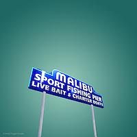 Vintage street sign in USA