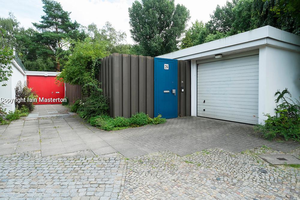 Houses at Hansaviertel modernist housing estate in Berlin Germany