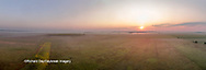 63893-03420 Sunrise in rural Illinois - panoramic aerial - Marion Co. IL