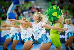 Cheerleaders Red Foxes perform during basketball match between National teams of Slovenia and Finland in Round 2 at Day 13 of Eurobasket 2013 on September 16, 2013 in Arena Stozice, Ljubljana, Slovenia. (Photo by Vid Ponikvar / Sportida.com)