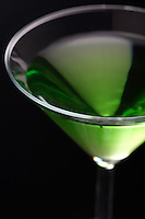Close up of drink in martini glasses