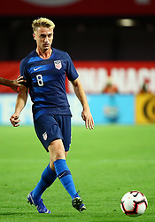 January 27, 2019 - Glendale, AZ, U.S. - GLENDALE, AZ - JANUARY 27: United States of America midfielder Djordje Milhailovic (8) passes the ball during the international friendly between the United States Men's National Team and Panama on January 27th, 2019 at State Farm Stadium in Glendale, AZ (Photo by Adam Bow/Icon Sportswire) (Credit Image: © Adam Bow/Icon SMI via ZUMA Press)
