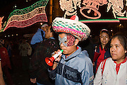 "15 SEPTEMBER 2005 - MEXICO CITY: Revelers on the Zocalo in Mexico City, Sept 15, for the traditional ""grito,"" the shout of ""Viva Mexico"" that marks the official start of Mexican Independence Day celebrations. Although Mexican Independence Day is Sept. 16, the celebrations usually start a couple of days before and continue through the 17th or 18th or September. It is the most important holiday on the Mexican calender. PHOTO BY JACK KURTZ"