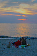 Loving Couple, Sunset Beach, Cape May Point, South Jersey, NJ