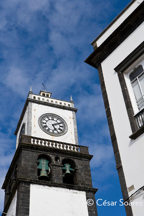 Church tower of Ponta Delgada,Azores Portugal