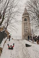 Paris in the snow, Jan 2013 -Montmartre