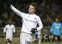Fotball<br /> UEFA-cup<br /> Auxerre v PSV Eindhoven<br /> 11. mars 2004<br /> Foto: Digitalsport<br /> Norway Only<br /> <br /> TEEMU TAINIO (AUX) <br />  *** Local Caption *** 40001078