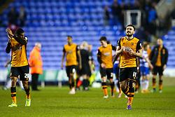 Robert Snodgrass of Hull City celebrates their win over Reading tonight, 2-1 to Hull City - Mandatory byline: Jason Brown/JMP - 07966 386802 - 19/04/2016 - FOOTBALL - Madejski Stadium - Reading, England - Reading v Hull City - Sky Bet Championship