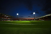 Blundell Park under floodlights during the Carabao Cup match between Grimsby Town FC and Rochdale at Blundell Park, Grimsby, United Kingdom on 14 August 2018.