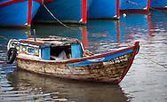 Small boat at the harbor of Hon Mieu, Vietnam.