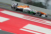 February 21, 2013 - Barcelona Spain. Adrian Sutil, Sahara Force India F1 Team  during pre-season testing from Circuit de Catalunya.