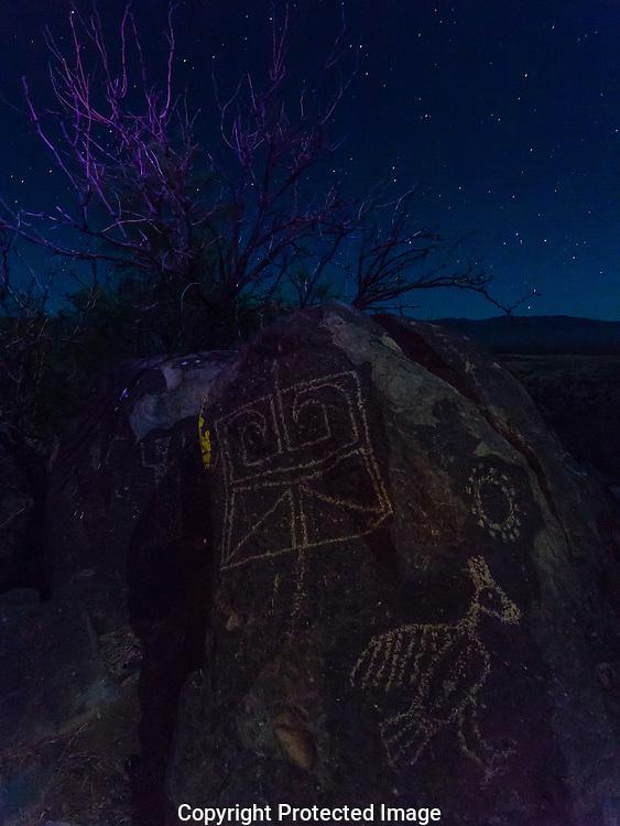 Three Rivers Petroglyph site, New Mexico,