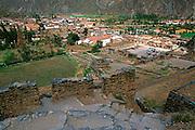 PERU, HIGHLANDS, INCA Ollantaytamb, Inca town, Sacred Valley