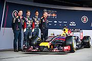 Circuito de Jerez, Spain : Formula One Pre-season Testing 2014. Christian Horner, Sebastian Vettel (GER), Daniel Ricciardo (AUS), Adrian Newey, Red Bull-Renault
