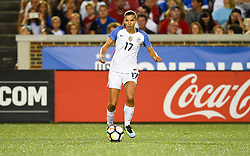 September 19, 2017 - Cincinnati, OH, USA - Cincinnati, OH - Tuesday September 19, 2017: Tobin Heath celebrate during an International friendly match between the women's National teams of the United States (USA) and New Zealand (NZL) at Nippert Stadium. (Credit Image: © Brad Smith/ISIPhotos via ZUMA Wire)
