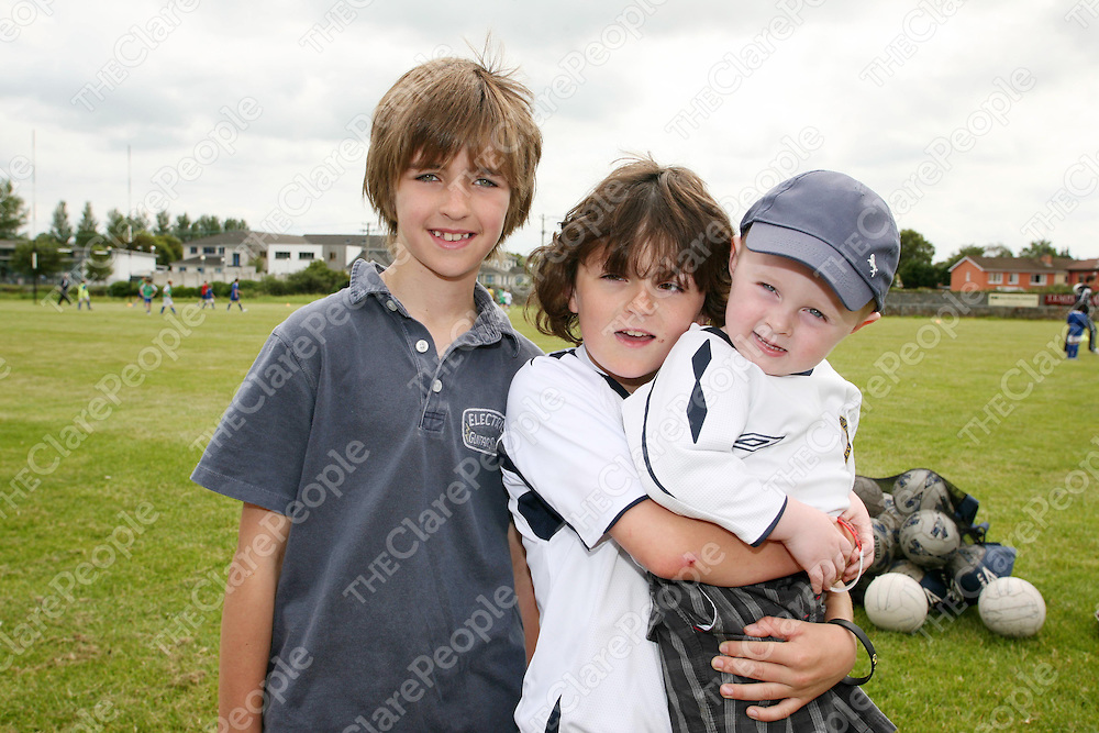 Pictured at the FAI summer camp on Thursday 14th July 2011 were Sean O'Brien, Dan Connolly &amp; Danny Murphy.<br /> Emma Jervis / Press 22