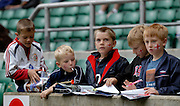 Twickenham, England. Young England supporters waiting for autograph's,  at the London Sevens Rugby, Twickenham Stadium, (date} [credit Peter Spurrier/ Intersport Images]