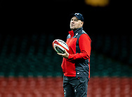 Head Coach Wayne Pivac of Wales during the captains run<br /> <br /> Photographer Simon King/Replay Images<br /> <br /> Six Nations Round 1 - Wales v Italy -  Captains Run - Friday 31st January 2020 - Principality Stadium - Cardiff<br /> <br /> World Copyright © Replay Images . All rights reserved. info@replayimages.co.uk - http://replayimages.co.uk