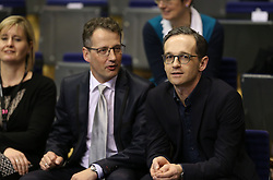 31.01.2016, Max Schmeling Halle, Berlin, GER, German Open 2016, im Bild DTTB Praesident Michael Geiger links und Bundesjustizminister Heiko Maas zu Gast // during the table Tennis 2016 German Open at the Max Schmeling Halle in Berlin, Germany on 2016/01/31. EXPA Pictures © 2016, PhotoCredit: EXPA/ Eibner-Pressefoto/ Wuest<br /> <br /> *****ATTENTION - OUT of GER*****