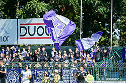 Fans of NK Maribor during football match between NS Mura and NK Maribor in 10th Round of Prva liga Telekom Slovenije 2018/19, on September 30, 2018 in Mestni stadion Fazanerija, Murska Sobota, Slovenia. Photo by Mario Horvat / Sportida