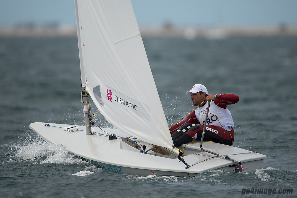 2012 Olympic Games London / Weymouth<br /> Racing day 1 Laser<br /> LaserMNEcDukic Milivoj