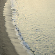 Detail of the beach at sunrise. Acapulco bay. Guerrero,Mexico.