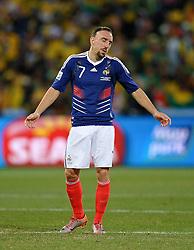 22-06-2010 VOETBAL: FIFA WORLDCUP 2010 FRANKRIJK - ZUID AFRIKA: JOHANNESBURG <br /> A dejected Franck Ribery of France. <br /> ©2010-FRH- NPH/ Marc Atkins (Netherlands only)