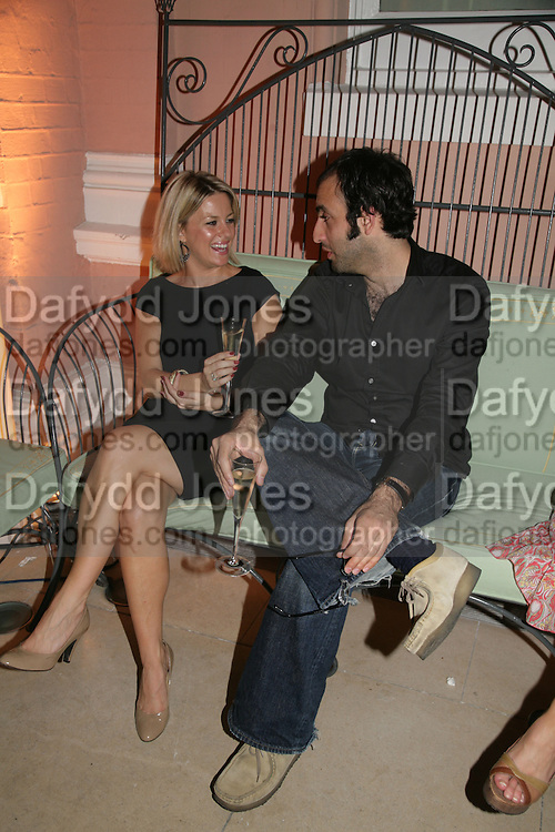 Anahita Resort launch party. Wallace Collection. London. 12 September 2007. ( Photo by Dafydd Jones) Georgina Bouzova;Tim Samuels -DO NOT ARCHIVE-© Copyright Photograph by Dafydd Jones. 248 Clapham Rd. London SW9 0PZ. Tel 0207 820 0771. www.dafjones.com.