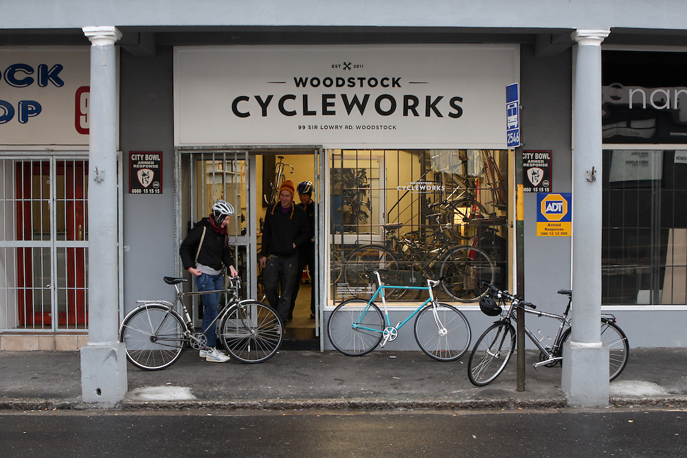 The shop hosts regular Saturday morning relaxed 'coffee run' rides around town before the shop opens.