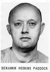 The father of the Las Vegas shooter Stephen Paddock was on the FBI's most wanted list and spent 10 years on the run after being apprehended in Las Vegas back in 1960. Benjamin Hoskins Paddock was jailed in 1960 for a series of bank robberies after he was finally tracked down in Sin City by the FBI. Benjamin then attempted to run down one of the arresting FBI officers with his car, according to archival editions of the Tucson Daily Citizen. His son Stephen — who shot and killed at least 58 people and further injured more than 500 others on Sunday [October 1] after firing an arsenal of weapons from the 32nd floor of a room at the Mandalay Bay Hotel — was just seven years old when his father was arrested. At the time his mother attempted to shield him and his three siblings from the news that their father was living a double life as a bank robber, taking the boy swimming when FBI agents raided their family home in Tucson, Arizona. Benjamin's arrest shocked the local community as he was also known as a friendly garbage disposal salesman who also volunteered at the local police department. But behind the outward-facing family man, he was also behind at least four armed bank robberies over a two-year period in the Phoenix area, robbing a total of $30,000 while armed and using stolen cars as a getaway. Benjamin was sentenced to 20 years for bank robbery — but in 1968 he escaped from the Federal Correctional Institution at La Tuna, Texas on New Years' Eve. He ended up at the top of the FBI's Top Ten Most Wanted Fugitives List, which described him as 'armed and extremely dangerous'. While living under the alias 'Benjamin Erickson' and 'Bruce Erickson' he moved to Oregon and ran a bingo center, where he was finally recaptured in 1978. He was released on parole in 1979 and if still alive he would be 90-years-old. 02 Oct 2017 Pictured: Las Vegas shooter Stephen Paddock's father Benjamin Hoskins Paddock was jailed in 1960 for a series of bank robberies