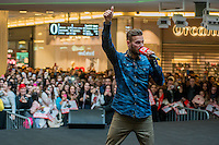 LYON, FRANCE - FEBRUARY 11: R&B French singer Matt Pokora attends public showcase organized by Radio Scoop at Part-Dieu shopping center on February 11, 2015 in Lyon, France.  (Photo by Bruno Vigneron/Getty Images)