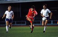 06.09.1989, Helsinki, Finland..FIFA World Cup qualifying match, Finland v Wales..Dean Saunders (Wales) v Jukka Ik?l?inen & Erik Holmgren (Finland).©JUHA TAMMINEN