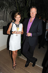 ANDREA CATHERWOOD and RORY BREMNER at the Andrew Martin 2008 International Interior Designer of the Year Award held at The Haymarket Hotel, 1 Suffolk Place, London SW1 on 22nd September 2008.