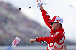 August 13, 2017 - Brooklyn, Michigan, United States of America - August 13, 2017 - Brooklyn, Michigan, USA: Kyle Larson (42) celebrates after winning the Pure Michigan 400 at Michigan International Speedway in Brooklyn, Michigan. (Credit Image: © Justin R. Noe Asp Inc/ASP via ZUMA Wire)