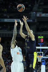 March 2, 2018 - Madrid, Madrid, Spain - SLOUKAS  KOSTAS of Fenerbahce Dogus in action  during the Turkish Airlines Euroleague basketball match between Real Madrid and Fenerbahce Dogus at the Wizink Center in Madrid, Spain on March 2, 2018. Photo: Oscar Gonzalez/NurPhoto  (Credit Image: © Oscar Gonzalez/NurPhoto via ZUMA Press)