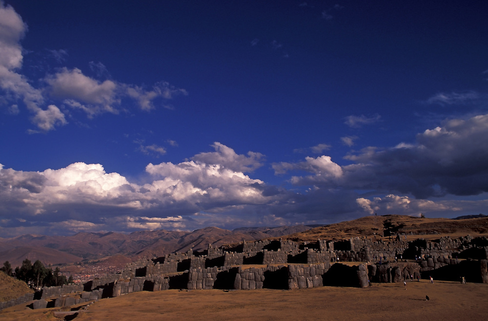 Inca stone fortress of Sacsayhuaman, above Cuzco, Peru