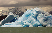 Ice floes in Lago Argentino.