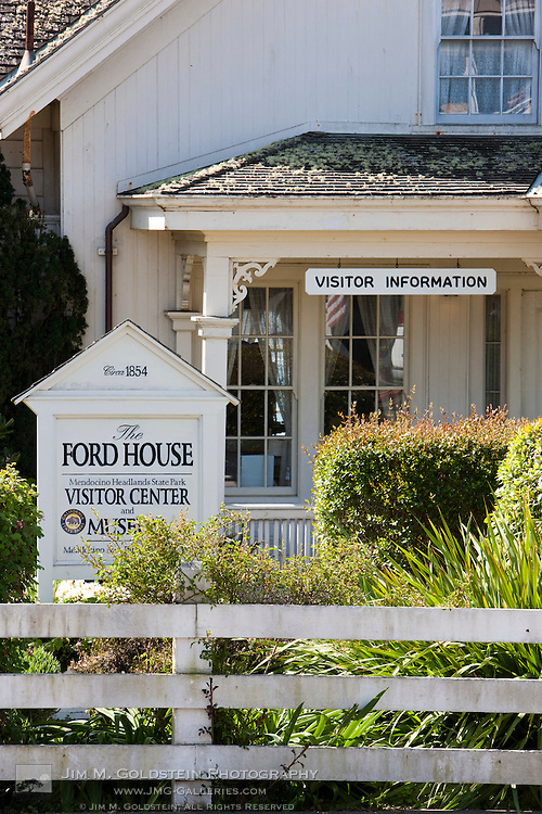 Ford House Visitor Center on Main Street - Mendocino, California