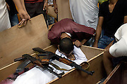 22 august 2011. People mourn a sniper victim in the mosque of the Gorji area the day after the rebels enter in Tripoli.