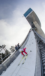 03.01.2015, Bergisel Schanze, Innsbruck, AUT, FIS Ski Sprung Weltcup, 63. Vierschanzentournee, Innsbruck, Qalifikations-Sprung, im Bild Kamil Stoch (POL) // Kamil Stoch of Poland in the run-up trail during a trainings jump for the 63rd Four Hills Tournament of FIS Ski Jumping World Cup at the Bergisel Schanze in Innsbruck, Austria on 2015/01/03. EXPA Pictures © 2015, PhotoCredit: EXPA/ JFK