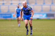 Halifax RLFC second row Shane Grady (11) in action  during the Betfred Championship match between Halifax RLFC and London Broncos at the MBi Shay Stadium, Halifax, United Kingdom on 8 April 2018. Picture by Simon Davies.
